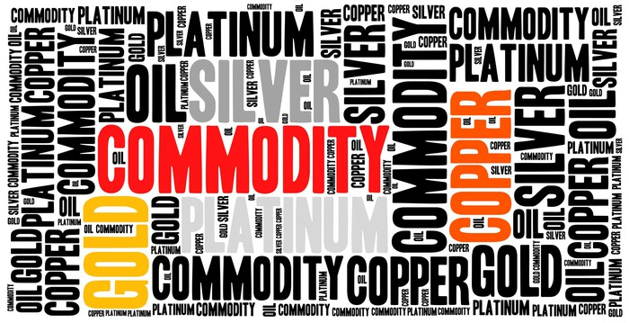 montage of commodity names including copper, gold, platinum.