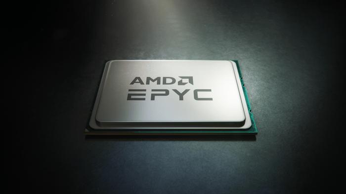 Rendering of AMD EPYC chip