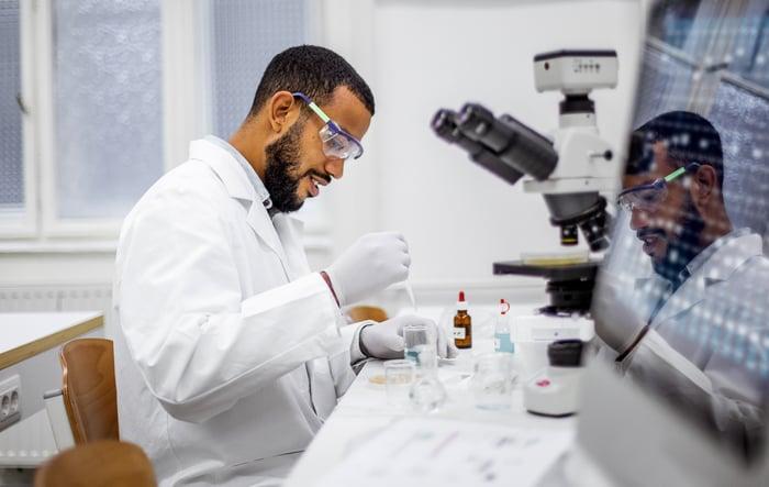 Scientist in the laboratory.
