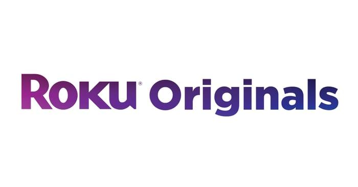 Roku Originals logo -- purple and dark blue on a white background.