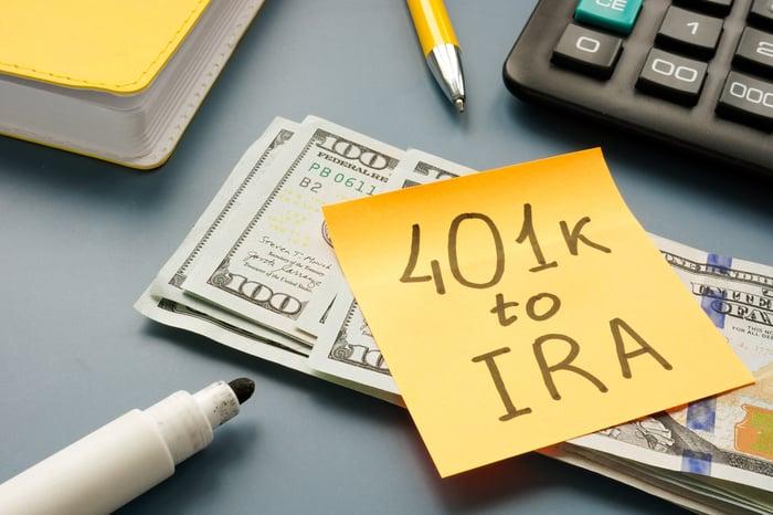 401K to IRA Post-it.