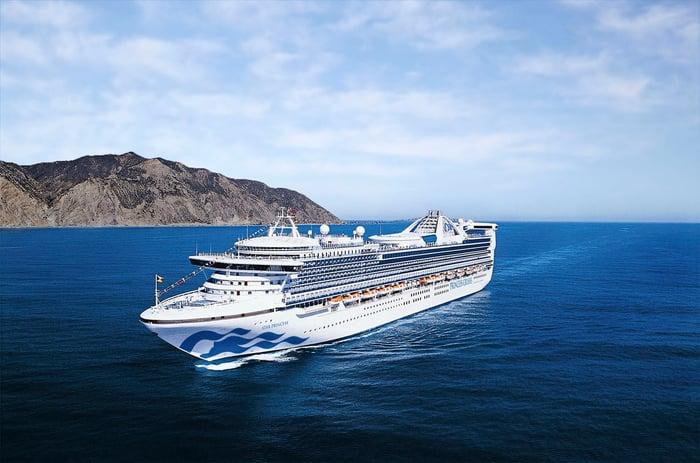 Carnival Princess cruise ship sailing in the ocean.