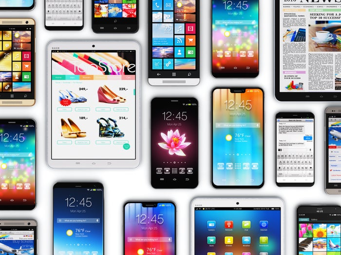 A wide range of tablets and smartphones.