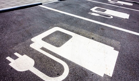 electric vehicle parking spot source getty