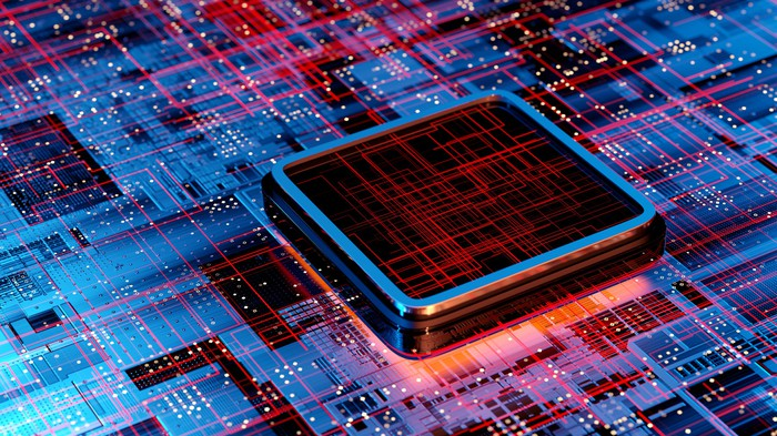 An illustration of a CPU.