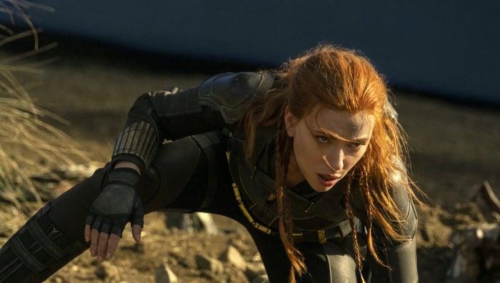 Scarlett Johansson plays Natasha Romanoff in Walt Disney's newest film Black Widow.