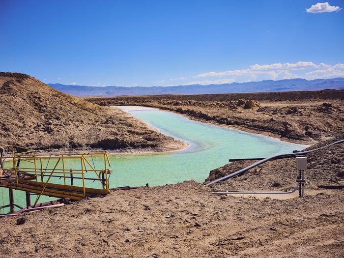 A lithium pond.