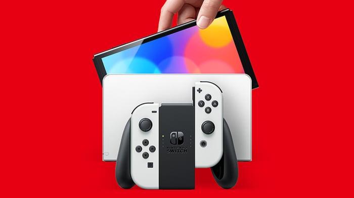 Nintendo's new Switch OLED.