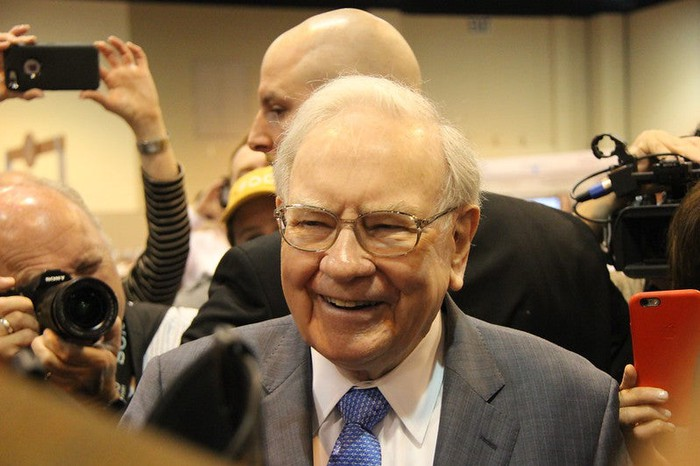 Warren Buffett smiling