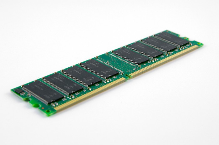 A computer memory chip.