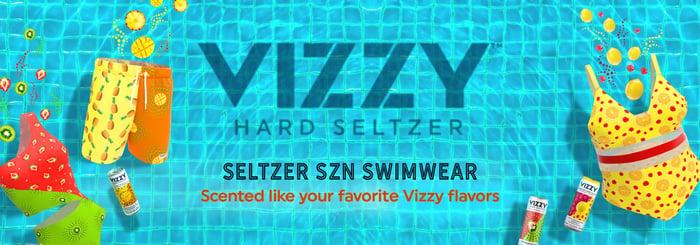 Vizzy swimwear ad.