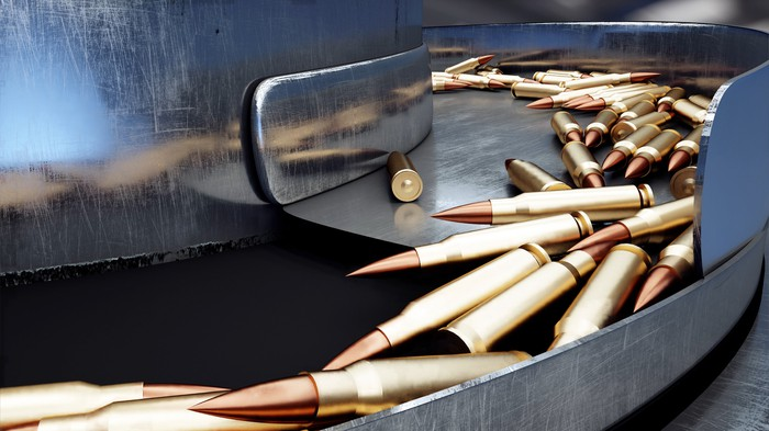 Ammunition in factory sorting machine