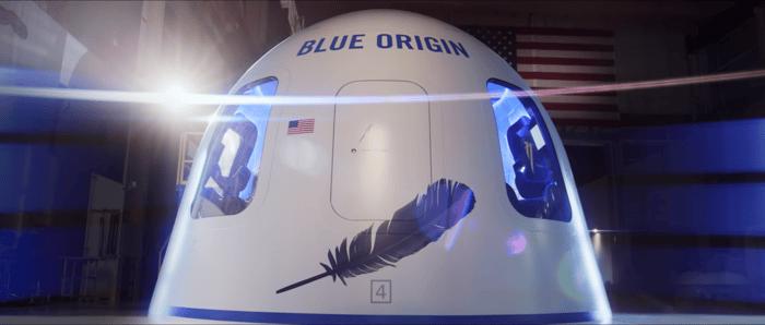 Blue Origin space capsule.