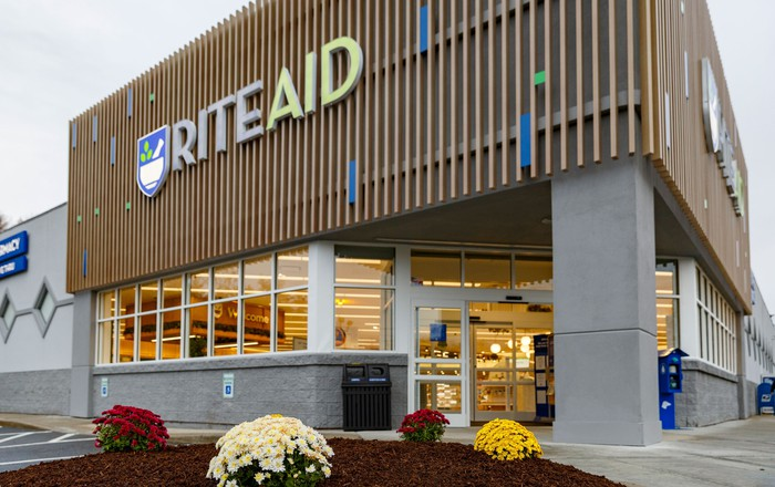The exterior of a Rite Aid store