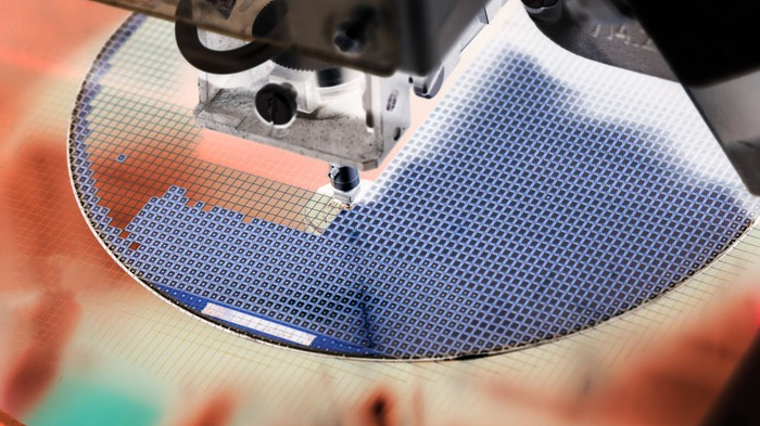 Semiconductor equipment etches a wafer.