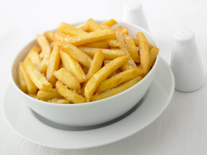 French fries and salt.