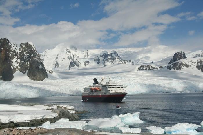 Cruise ship in an arctic bay