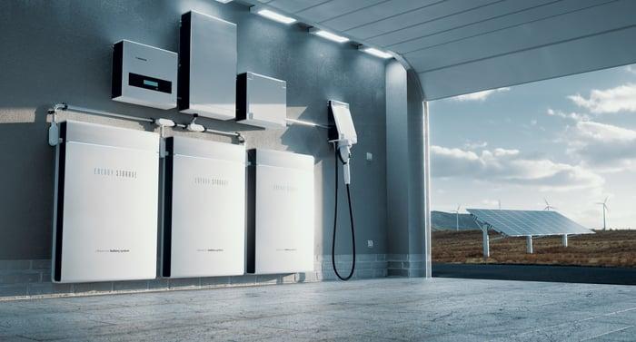 Energy battery wall.
