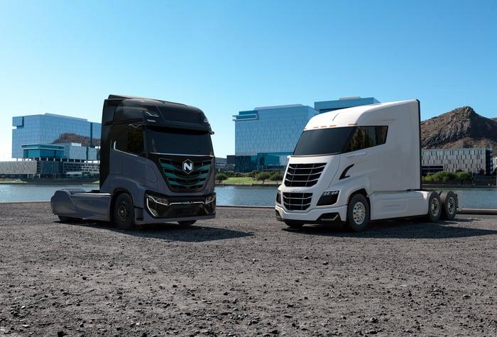 Two Nikola truck cabs