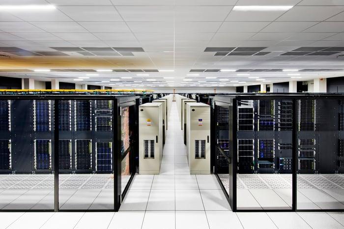 Un centre de données cloud IBM.