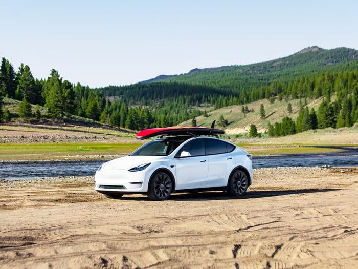 Tesla Model Y vehicle.