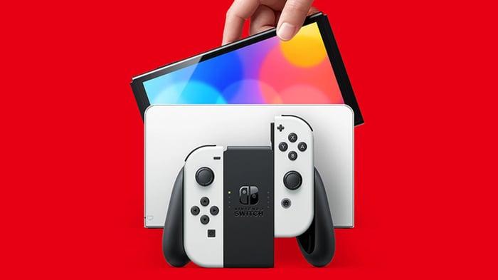 Nintendo's Switch OLED console.