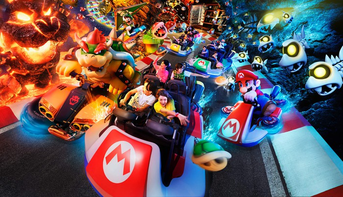 Super Nintendo land at Universal Studios Japan.