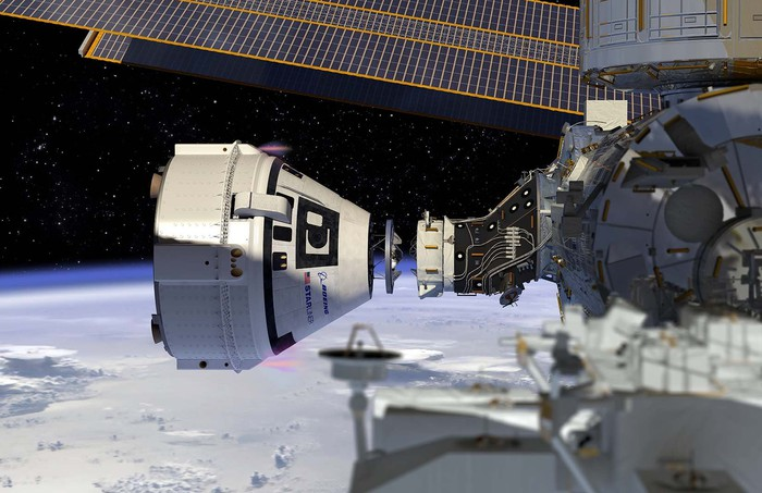 Starliner Port with International Space Station.