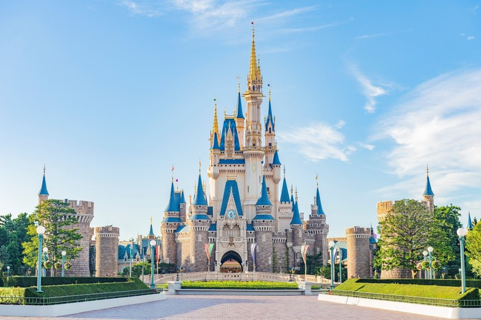 The castle at Tokyo Disneyland.