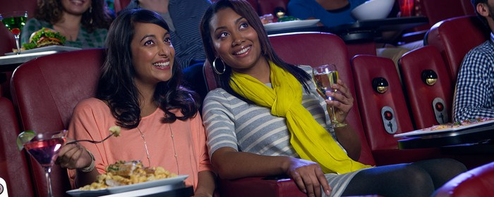 Women at a dine-in theater