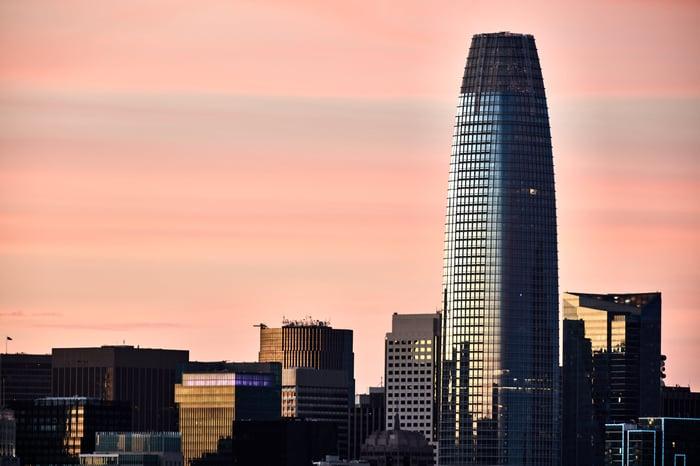 Salesforce Tower in San Francisco.