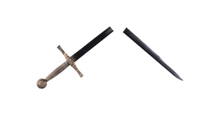 Sword broken in half