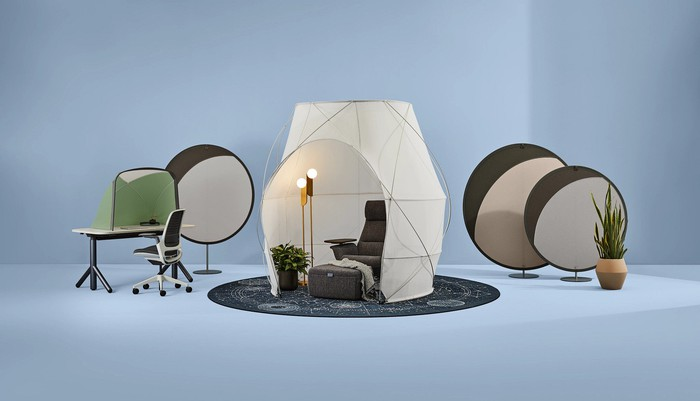 Items from the Steelcase work tent pod collection.