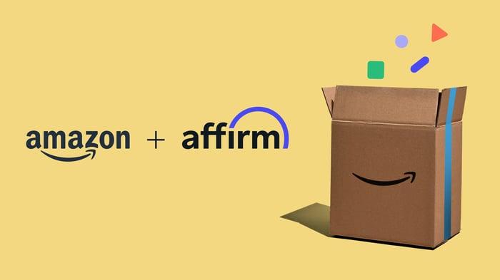 Amazon plus Affirm advertising banner ad.