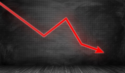 Generic downward stock move Getty
