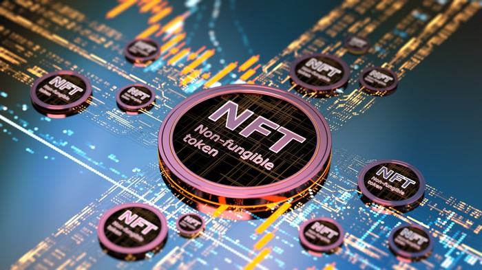 An NFT toke on a digital screen.