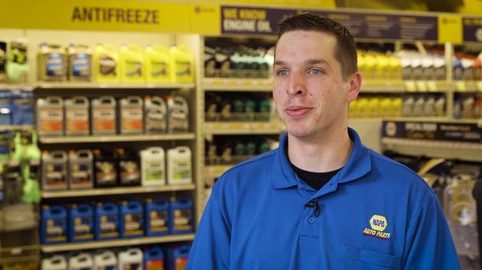 NAPA Auto Parts employee in store