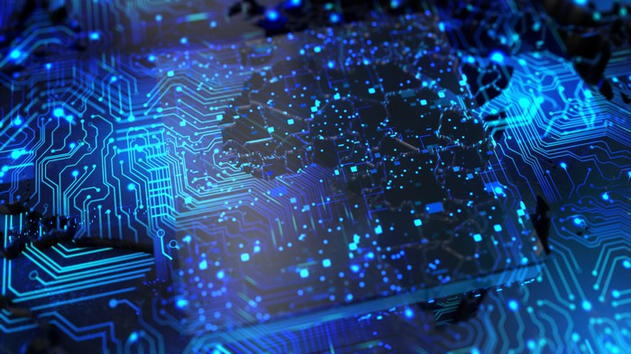 An interconnected circuit board.