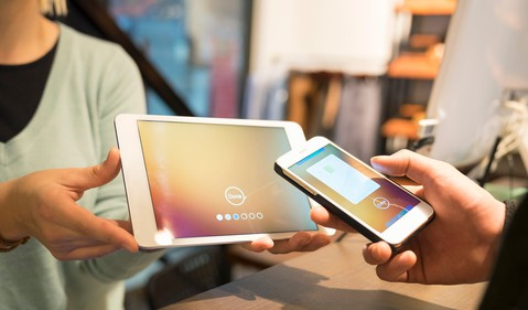mobile tablet contactless payment