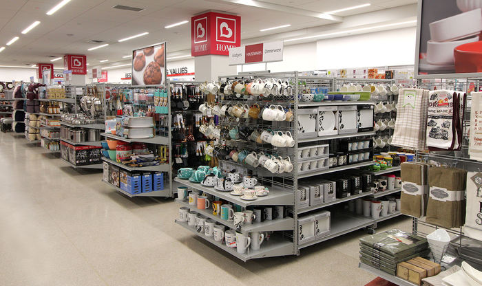 The home department in a Burlington store.