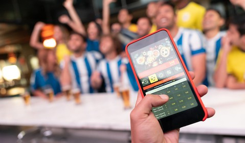 Betting on Game at Bar