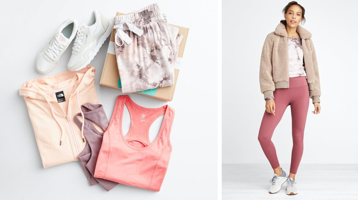 An assortment of women's clothing supplied by Stitch Fix.