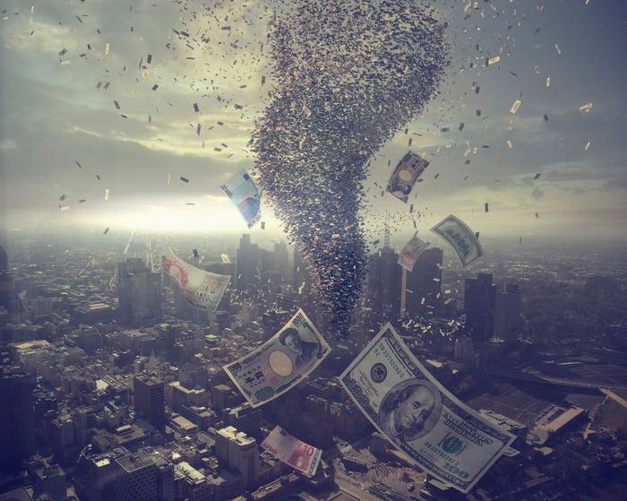 Tornado of money.