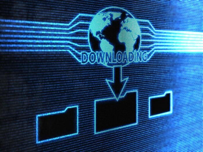 File downloading onto one's folder.