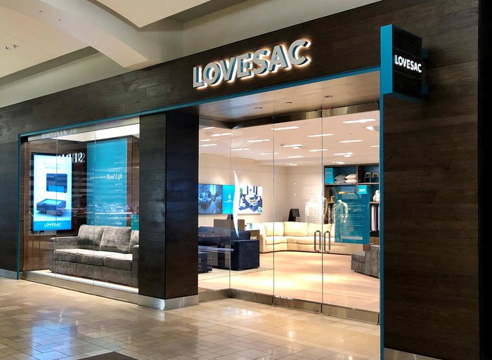 Exterior of a Lovesac store.