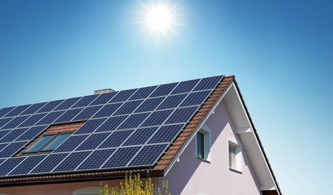 Home with Rooftop Solar