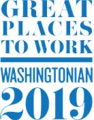 Washingtonian Great Places to Work 2019 badge