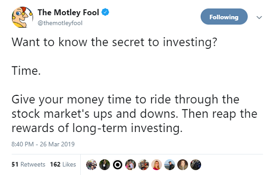 Want to know the secret to investing? Time. Give your money time to ride through the stock market's ups and downs. Then reap the rewards of long-term investing.